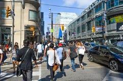 Straatmening van Toronto van de binnenstad Royalty-vrije Stock Foto