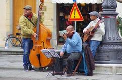 Straatmusici Stock Foto