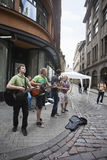 Straatmusici in Oude Stad Royalty-vrije Stock Afbeelding