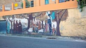 Straatmuurschildering in San Sperate Royalty-vrije Stock Fotografie