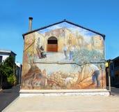 Straatmuurschildering in San Sperate Stock Afbeelding