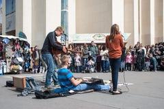 Straatmuziek in Parijs Stock Afbeeldingen