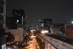 Straatnacht in Bangkok Thailand royalty-vrije stock afbeelding