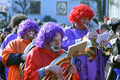Straatoptocht in Duits Carnaval Fastnacht Stock Foto