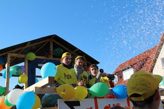 Straatoptocht in Duits Carnaval Fastnacht Royalty-vrije Stock Foto