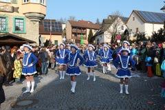 Straatoptocht in Duits Carnaval Fastnacht Stock Foto