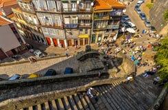 Straatpartij in Porto - Portugal stock foto