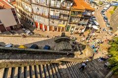 Straatpartij in Porto - Portugal stock afbeelding