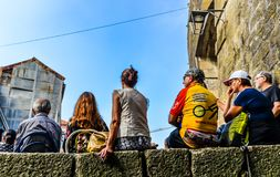 Straatpartij in Porto - Portugal stock afbeeldingen