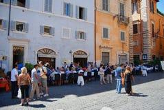 Straatplein Rome Italië Royalty-vrije Stock Foto