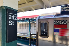 242 straatpost - NYC-Metro Royalty-vrije Stock Fotografie