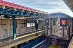 242 straatpost - NYC-Metro Stock Foto's
