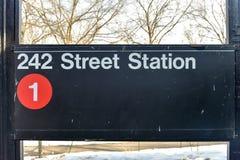 242 straatpost - NYC-Metro Royalty-vrije Stock Afbeelding
