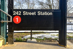242 straatpost - NYC-Metro Royalty-vrije Stock Foto's