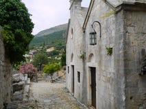 Straatruïnes van Oude Bar (Stary-Bar), Montenegro royalty-vrije stock foto's