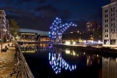 Straatsburg bij nacht Royalty-vrije Stock Fotografie