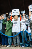 Straatsburg houdt stille wake voor die gedood in de aanval van Parijs Royalty-vrije Stock Foto