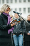 Straatsburg houdt stille wake voor die gedood in de aanval van Parijs Stock Foto's