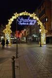 Straatsburg, Kapitaal van Kerstmis Stock Afbeeldingen