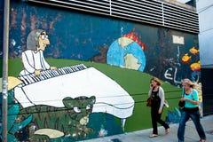 Straatscène in Buenos aires Stock Afbeelding