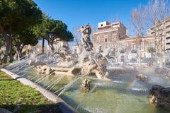 Straatscène Catanië, Sicilië, Italiaans Eiland Stock Afbeeldingen