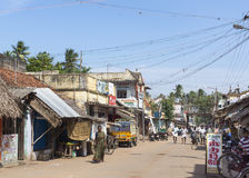 Straatscène in Kumbakonam dichtbij Mahalingeswarar-Tempel royalty-vrije stock afbeelding
