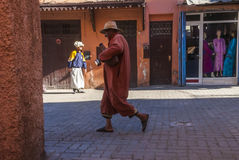 Straatscène in Marrakech royalty-vrije stock afbeeldingen
