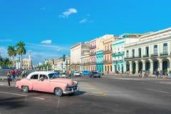Straatscène op een mooie dag in Oud Havana Royalty-vrije Stock Foto