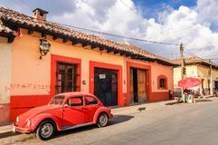 Straatscène in San Cristobal DE las Casas, Mexico stock afbeeldingen