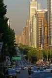 Straatscène, Seoel, Zuid-Korea Stock Foto's