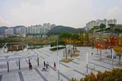 Straatscène, Seoel, Zuid-Korea Royalty-vrije Stock Afbeelding