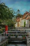 Straatscène, Thornton Le Dale, North Yorkshire stock foto