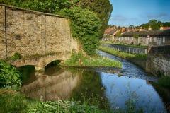 Straatscène, Thornton Le Dale, North Yorkshire royalty-vrije stock fotografie