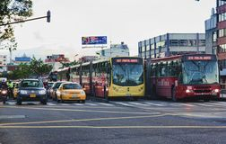 Straatscène van Bogota Colombia Stock Afbeelding