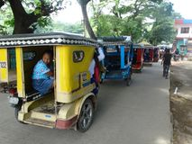 Straatscène van Coron, Palawan, Filippijnen stock foto's