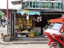 Straatscène van Coron, Palawan, Filippijnen stock afbeelding