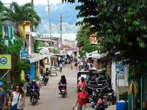 Straatscène van Coron, Palawan, Filippijnen royalty-vrije stock foto's