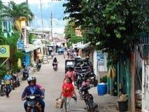 Straatscène van Coron, Palawan, Filippijnen royalty-vrije stock foto