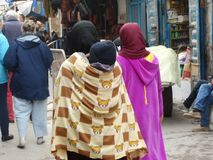 Straatscène van Essaouira-medina, Marokko Royalty-vrije Stock Afbeeldingen