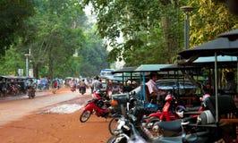 Straatscènes - Angkor Wat, Kambodja Royalty-vrije Stock Foto's