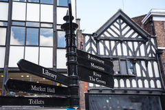 Straatscènes in Chester England royalty-vrije stock foto