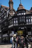 Straatscènes in Chester England stock fotografie