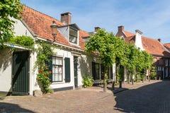 Straatscène in oude stad van Amersfoort, Nederland Royalty-vrije Stock Foto