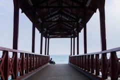 Straatspruit in de kust van Lima stock afbeelding