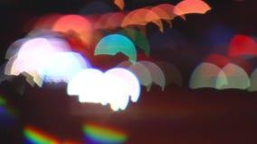 Straatstad bij nacht blur stock videobeelden