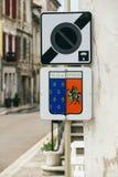 Straatstad Chablis royalty-vrije stock afbeeldingen