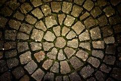 Straatsteen opgemaakte cirkels Achtergrond Royalty-vrije Stock Afbeeldingen