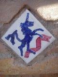Straatsteen van een eenhoorn Stock Fotografie