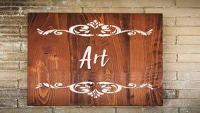 Straatteken aan Art. stock afbeelding