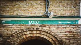 Straatteken aan B2C stock foto